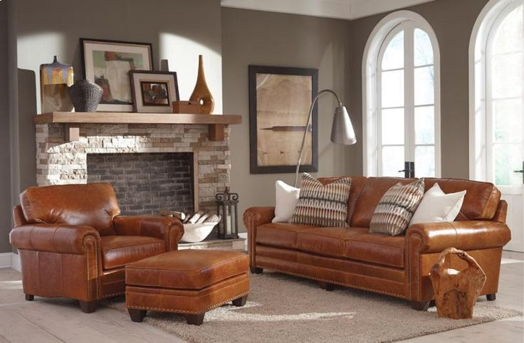 23513LEATHER in by Smith Brothers Furniture in Parma, OH - Large Sofa