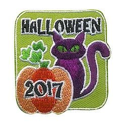 Halloween 2017 Fun Patch. Having a spooky Halloween party or a costume party for your Girl Scouts? Hand out the Halloween 2017 fun patch as a party gift. Available at MakingFriends.com