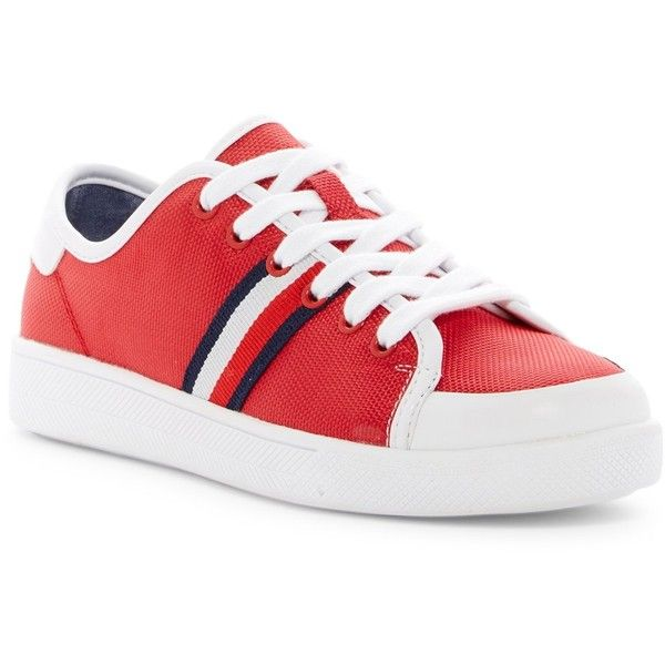Tommy Hilfiger Spruce Platform Sneaker (725 MXN) ❤ liked on Polyvore featuring shoes, sneakers, platform lace up shoes, tommy hilfiger sneakers, rubber shoes, platform sneakers and laced up shoes