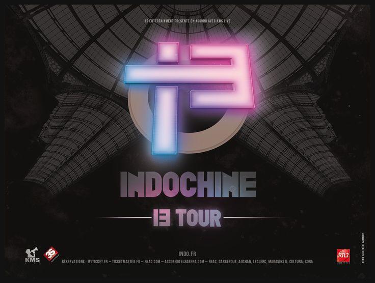 #Indochine #13Tour : ouv. billet. 10h concerts #Paris (18/2), #Lyon (22/2), #Rouen (28/3), #Nantes (3/4), #Dijon (11/4), #Amiens (16/5), #Caen (19/5) & #Lille (23/5) Indo.fr+réseaux habituels!