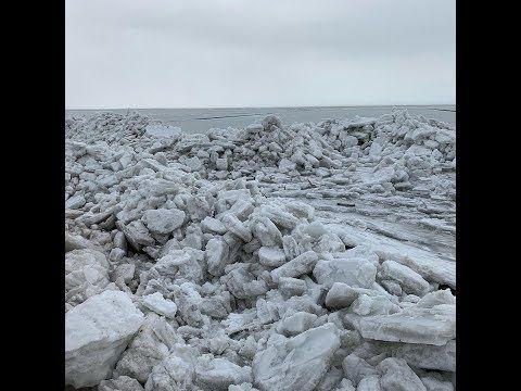 اكوام من الجليد تتدفق على سواحل بحيرة أري في امريكا الشمالية 24 2 2019 Youtube Snow Outdoor