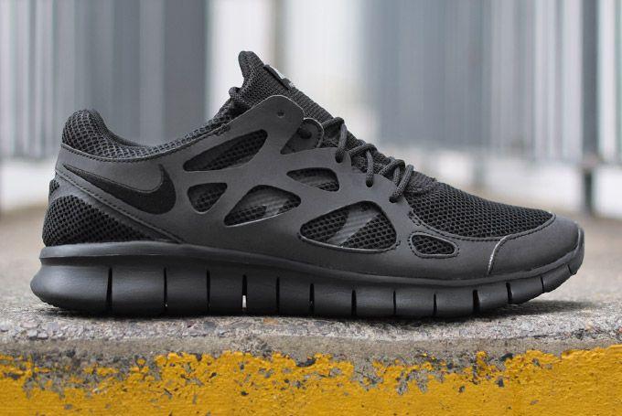 Nike Free Run 2 Triple Black Eu Kicks Sneaker Magazine Nike Free Run 2 Nike Shoes Outlet Nike