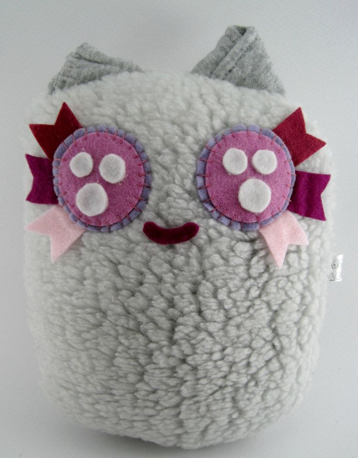 Cute Cozy Stuffed Animal Fluffy Ball Jickie!! by JazzyRaccoon on Etsy