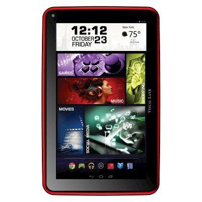 Prestige Elite 7Q 7 QuadCore 8GB KitKat 4.4 Android Tablet, Wifi, 2MP Camera, 1024x600 Touchscreen, Red