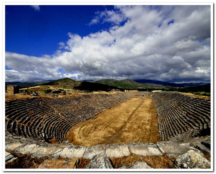 Aphrodisias Stadium. Are you ready for next gladiator fight? Geyre, Aydin