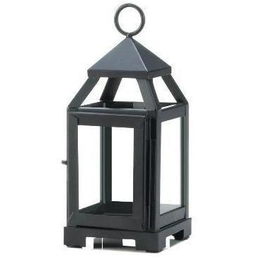 Black Mini Contemporary Lantern