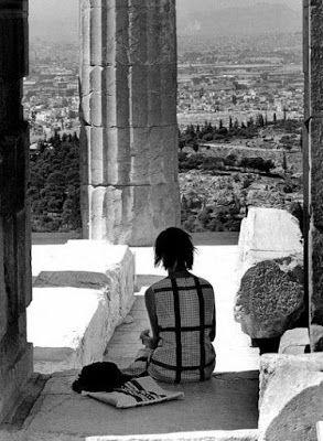 Athens, Acropolis 1962, photo by Hubertus Hierl.