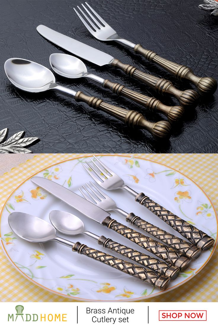 Make your lunch or #dinner party even more #beautiful with tour Antique Cutlery sets. Now avail at 25% Off !
