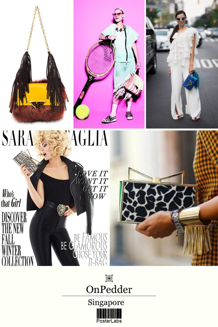 #SaraBattaglia #Bag #fashion #fringe #newarrival #onpedder #singapore