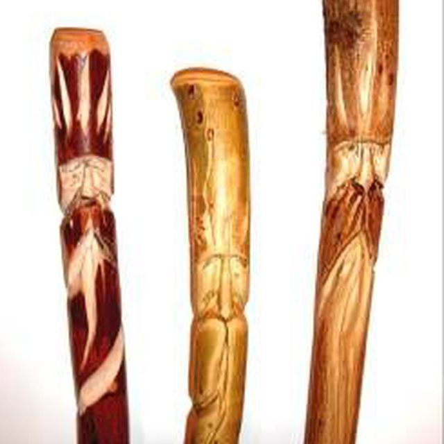How To Carve A Wood Spirit In A Hiking Stick Crafts