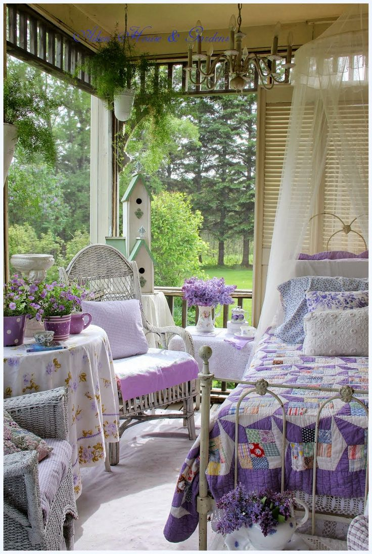 My Summer Porch Romantic Country Aiken House Gardens PorchShabby Chic BedroomsShabby
