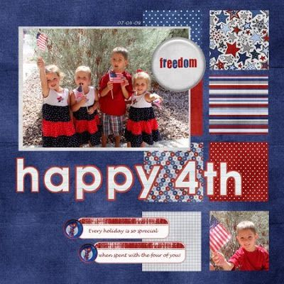 4th of july scrapbook layout idea