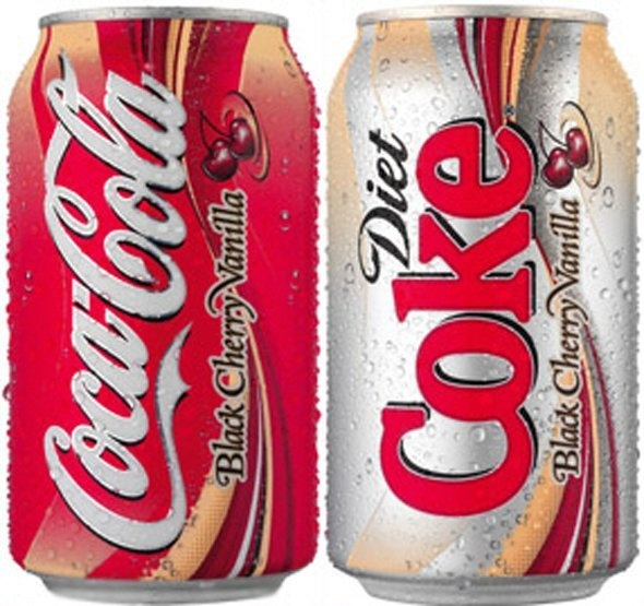 Cherry Vanilla Coke (and a diet version) was launched in 2006 but discontinued just a year later