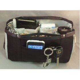 6 Britney Black amp Grey Handbag Purse Tote Travel Bag Organizer Insert Product Dimensions L 105 x H 65 x W 35 Expanded Dimensions L 105 x H 65 x W 7
