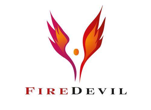 Logo, Feuer, Flamme, Energie, Mensch, Flügel, Grafikpart