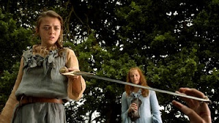 Arya Stark with her 'Needle'. Stick 'em with the pointy end! #gameofthrones: Sticks Ems, Arya Stark