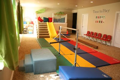 Home gymnastics area for Jordyn in the basement. #rfdreamboard