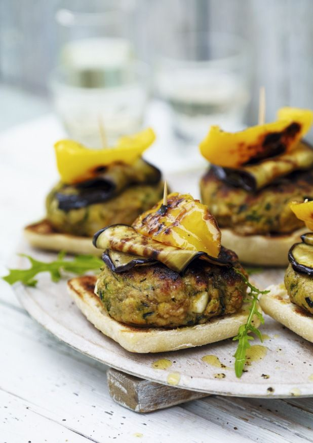 Halloumi and Courgette Burgers