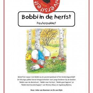 Bobbi-in-de-herfst Beleef het najaar met Bobbi op de peuterspeelzaal of het kinderdagverblijf! Dit kleurige pakket bevat kringactiviteiten voor jonge kinderen bij de boeken 'Bobbi naar de dierentuin', 'Bobbi naar het bos', 'Bobbi gaat logeren' en 'Bobbi doet boodschappen' van Monica Maas en Ingeborg Bijlsma.
