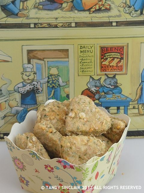 This recipe for dog biscuits is so easy to make and so rewarding to see your dogs wanting more and more of these.