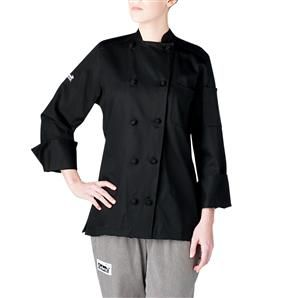 Chefwear's Long Sleeve Lightweight Women's Jacket is made of 100 percent cotton fabric and comes with sewn underarm vents to make this chef coat more breathable and comfortable. The addition of the breast patch and split sleeve pockets add an extra touch to this chef coat to complete your chef uniform. Available in two colors. $50.95