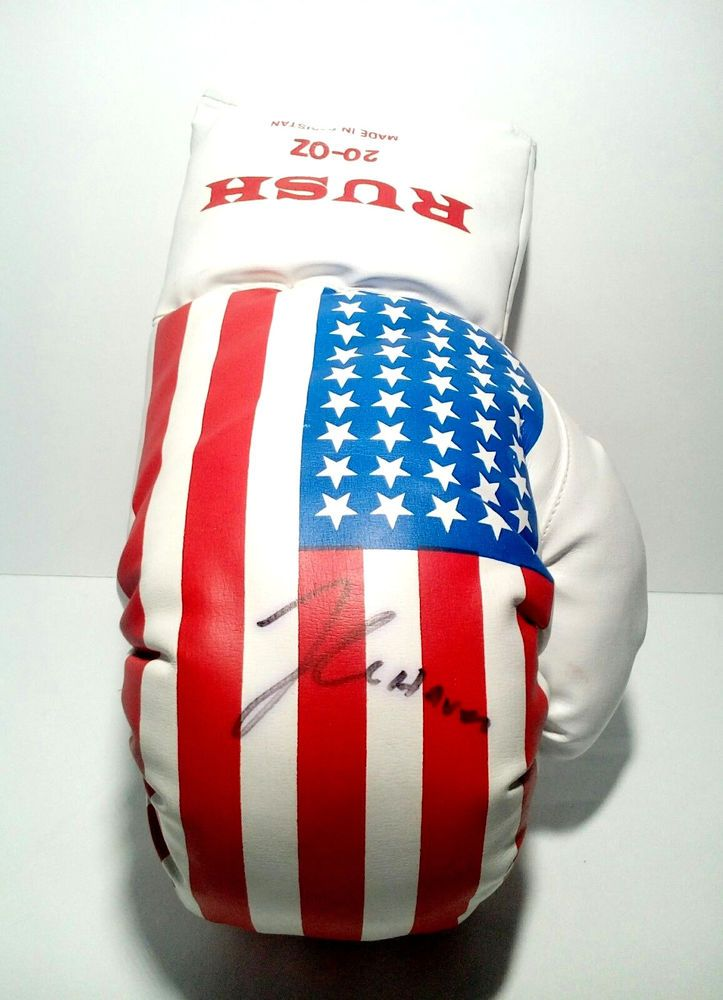 "Julio Cesar Chavez Sr Signed ""Rush right Boxing Glove"""