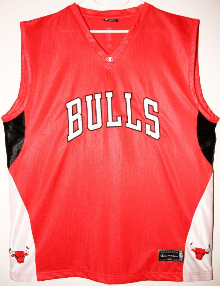 Champion NBA Chicago Bulls Teamshirt Trikot/Jersey Size 48 - Größe XL - 69,90€ #nba #basketball #trikot #jersey #ebay #etsy #hood #sport #fitness #fanartikel #merchandise #usa #america #fashion #mode #collectable #memorabilia #allbigeverything