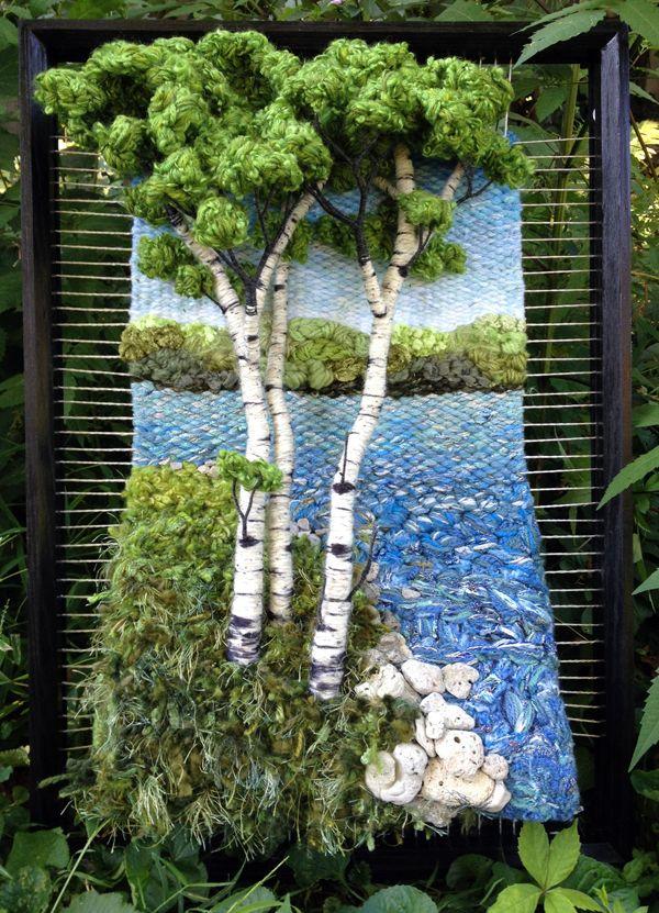 Dimensional Weaving - Martina Celerin 3D fiber art: Fourth Street Festival…
