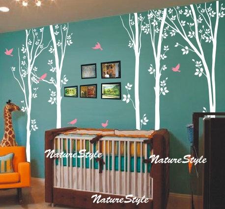 trees: Flying Birds, Etsy, Birds Vinyl, Tree Wall Decals, Bird Wall Decals, Trees, Baby Rooms, Vinyl Wall Decals, Kids Rooms