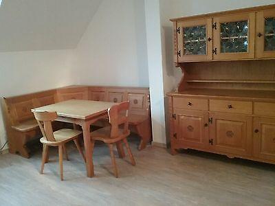 Massivholz Essecke   Eckbank, Tisch, Stühle, Schränke