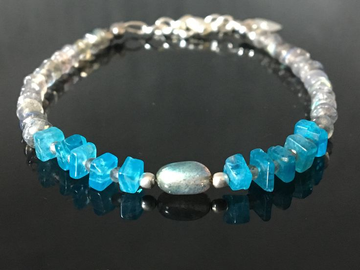 A personal favourite from my Etsy shop https://www.etsy.com/no-en/listing/522293676/summer-in-blue-apatite-bracelet