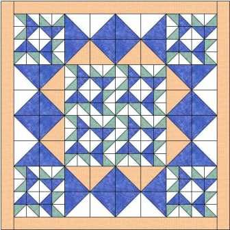 The winged star quilt block makes a delightful quilt - especially when teamed with an alternate block to help the stars stand out and forms a diamond