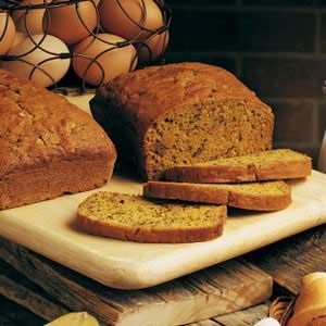 Pumpkin Zucchini Bread - made yesterday with giant zucchini from grandma.  Great!  And subbed applesauce for 1/2 the butter.   Really moist & yummy.