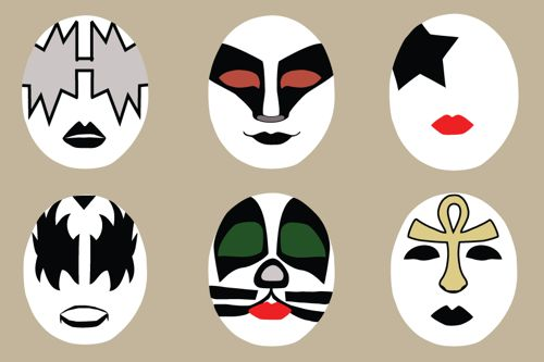 40 Awesome kiss face paint images