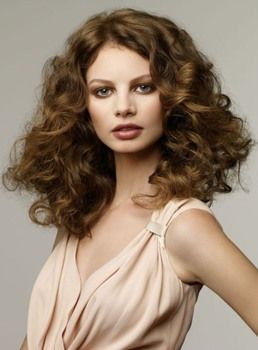 High Quality New Hairstyle Long Curly 100% Real Human Hair Full Lace Wig 16 Inches