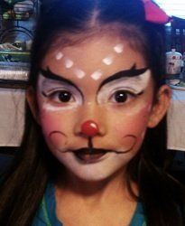Christmas Face Painting: Reindeer face