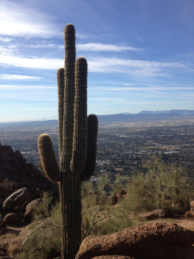 Halfway up Camelback MountainOverlooking Scottsdale, Arizona Sun, Camelback Mountain