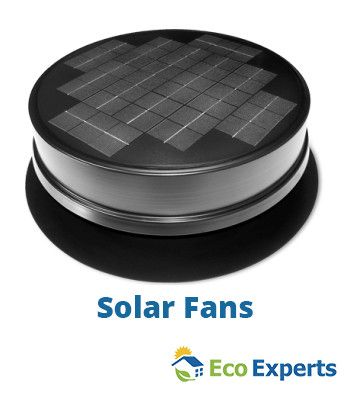 """How Does a Solar Powered Attic Fan Work? A solar powered attic fan gives uninterrupted air flow throughout your attic. It vents out stale warm air and gives a fresher cooler air to your room through the process called """"air exchange.""""  For a long lasting Attic fan, ensure your attic temperature does not exceed 25° above the outside air temperature during summer."""