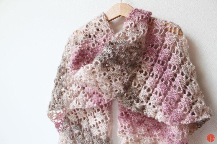 Filet crochet pattern, shawl