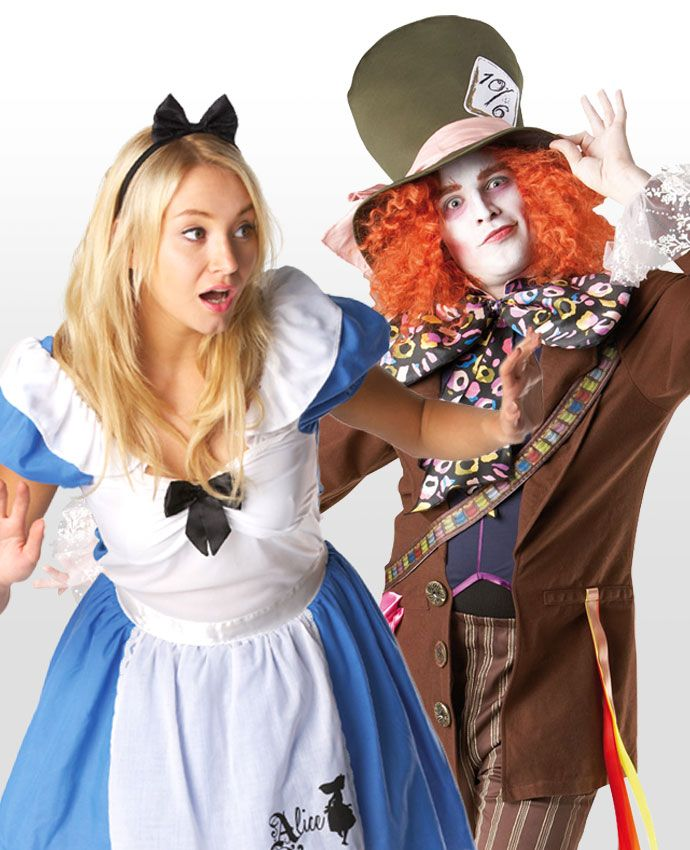 Take a tumble into Wonderland with this Alice in Wonderland costume for couples! Dress up as Alice in Wonderland the Mad Hatter and browse more couple's costume ideas on the Party Delights blog.
