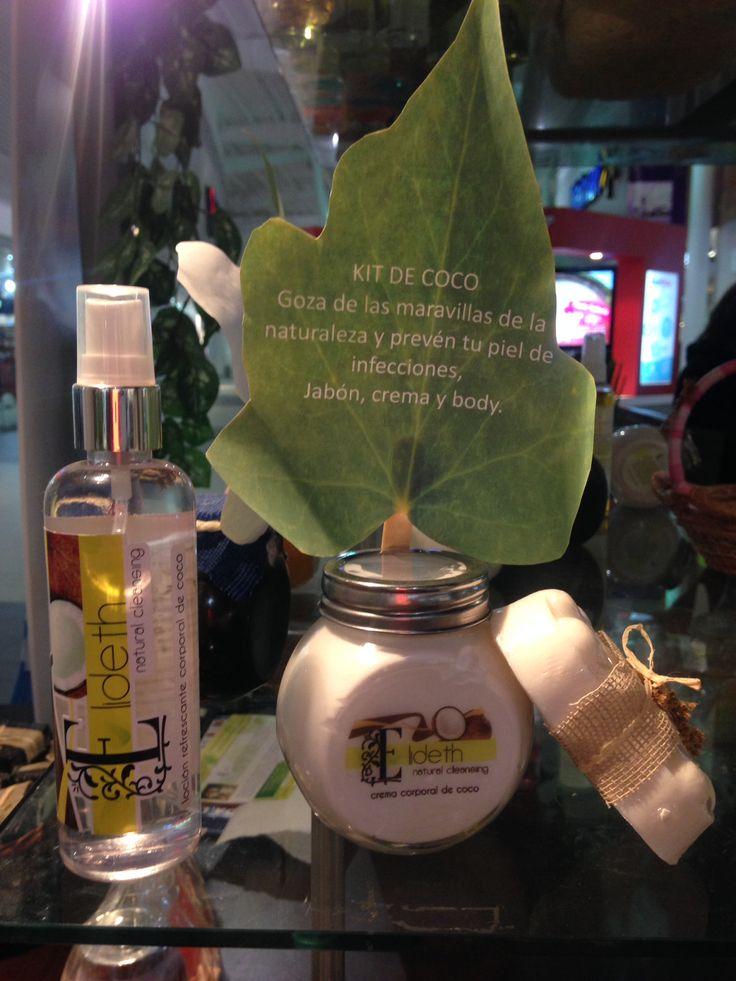 Disfruta del Kit de coco que Línea Elideth tiene para tu piel. Jabón, crema, loción corporal. Comunícate con nosotros para adquirirlo.