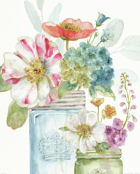 Bouquet Painting - Rainbow Seeds Flowers Ix by Lisa Audit