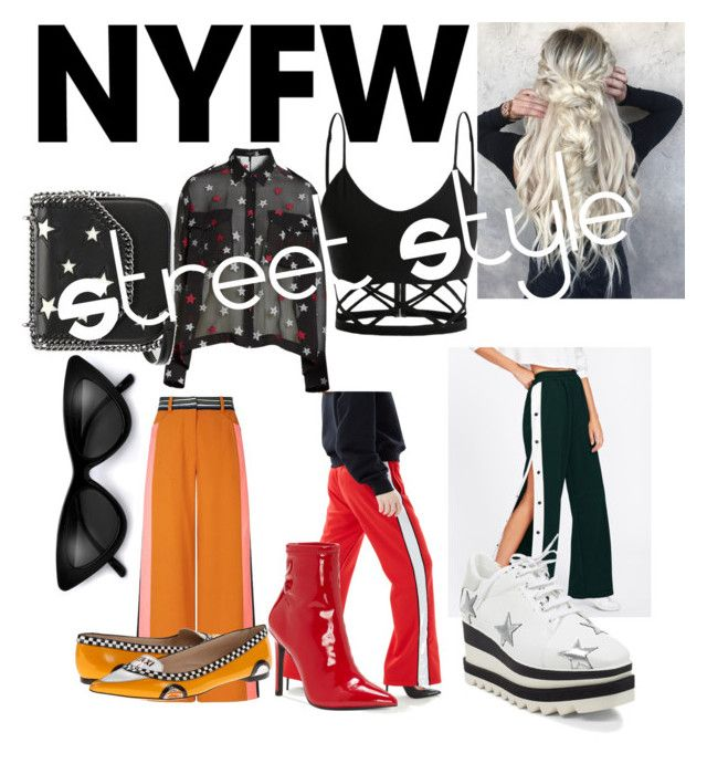 """NYFW-Street Style"" by drumeaclementina on Polyvore featuring rag & bone, Off-White, Peter Pilotto, Jessica Simpson, STELLA McCARTNEY, Kate Spade, StreetStyle and NYFW"