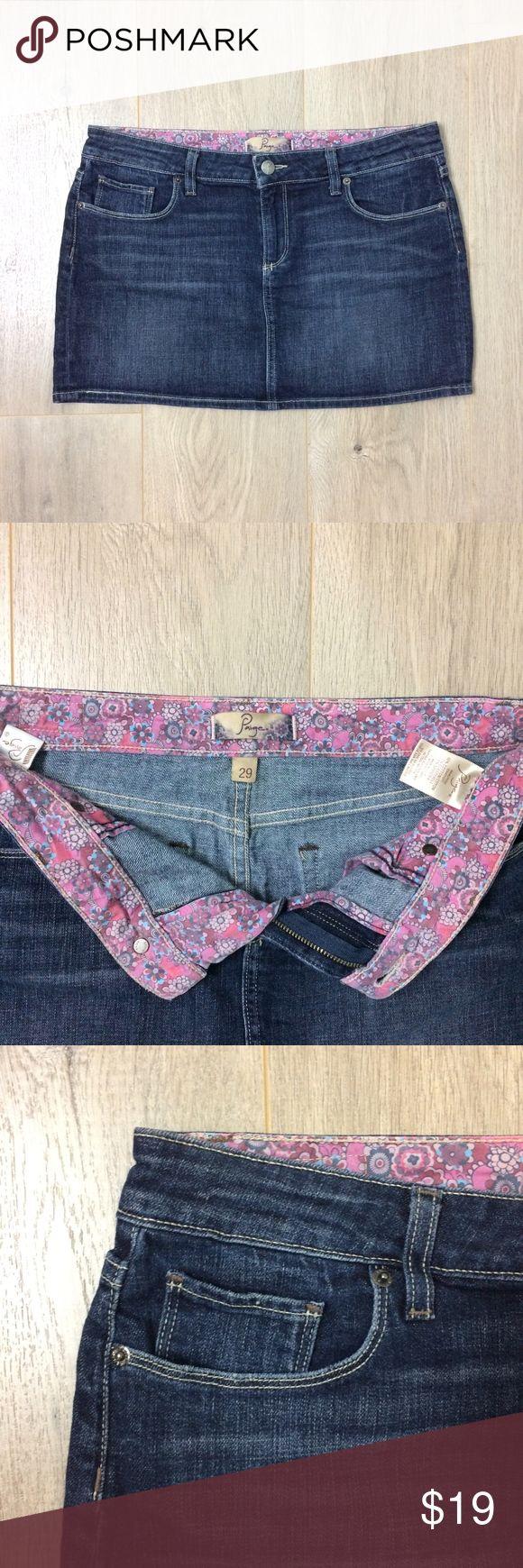PAIGE Premium Denim Jean Mini Skirt PAIGE Premium Denim Jean Mini Skirt Distress Fade   Excellent Condition 100% Authentic Women Size 29   MSRP $170 Paige Jeans Skirts Mini