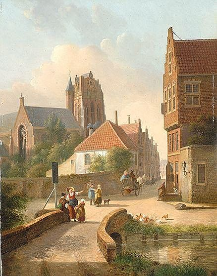 Jan Hendrik Verheijen Utrecht 1778 - 1846 Naar de stad