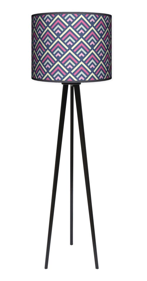 Lampa podłogowa Trójnóg - Mięta Malina