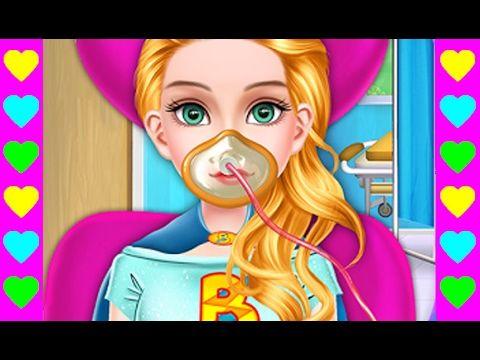 Мультики про СУПЕРГЕРОЕВ! Супергерл в больнице. Детские мультфильмы.