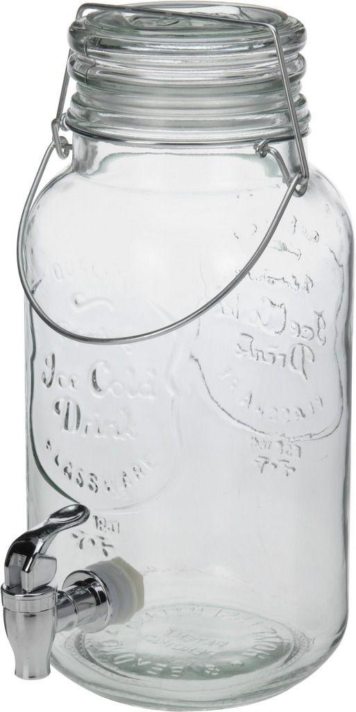 Popis: Skleněná dóza s kohoutkem na domácí limonádu a různé míchané alkoholické i nealkoholické drinky. Velice praktická a elegantní nádoba pro Vaše párty a oslavy všeho druhu. Nepostradatelný společník do horkých letních dnů ! Technické parametry: Objem zásobníku nápoje je 4 L Výška 32cm Průměr 15cm Vyrobeno z kvalitního skla Skleněné víko s těsnící gumou je uchyceno pomocí kovové konstrukce. Ventil je šroubovací se silikonovým těsněním.