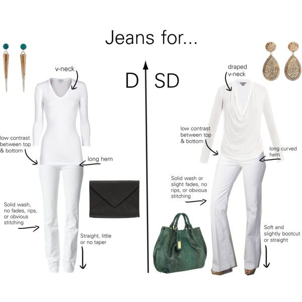 Jeans looks for Dramatic Types