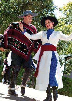 La cueca!!!  national dance of Chile                                                                                                                                                      More